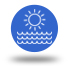 icono olas, sol y playa
