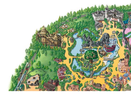 mapa adventureland
