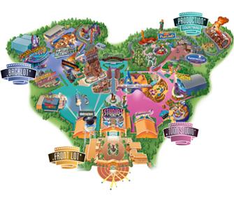 mapa Walt Disney Studios