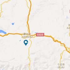 Mapa juanshui- viaje a China, Yunnan - El Pais Viajes